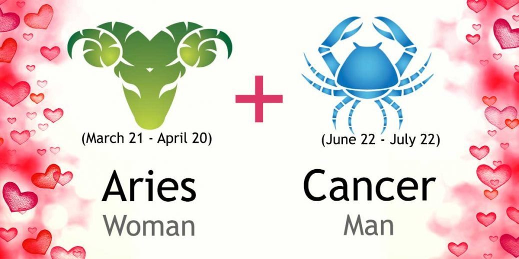 Man Woman And Compatibility Love Cancer Aries