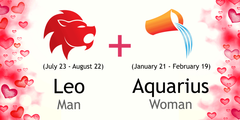 aquarius man dating a leo woman Read free compatibility horoscope for aquarius and leo, free compatibility characteristic for a couple where aquarius is a man and leo is a woman.
